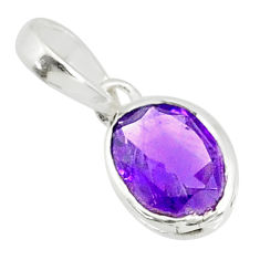 2.22cts natural purple amethyst 925 sterling silver pendant jewelry r83709