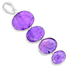 9.51cts natural purple amethyst 925 sterling silver pendant jewelry r87904