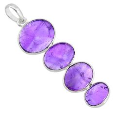9.48cts natural purple amethyst 925 sterling silver pendant jewelry r87911