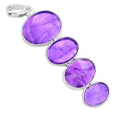 9.48cts natural purple amethyst 925 sterling silver pendant jewelry r87913
