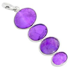 10.12cts natural purple amethyst 925 sterling silver pendant jewelry r87916