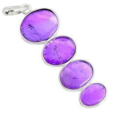 9.31cts natural purple amethyst 925 sterling silver pendant jewelry r87917