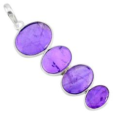 8.87cts natural purple amethyst 925 sterling silver pendant jewelry r87918