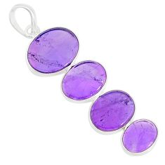 9.45cts natural purple amethyst 925 sterling silver pendant jewelry r87940