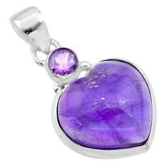 14.60cts natural purple amethyst 925 sterling silver pendant jewelry t19359