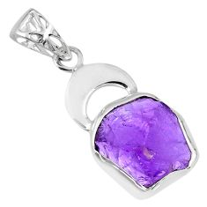 7.21cts natural purple amethyst rough 925 sterling silver pendant jewelry r56853