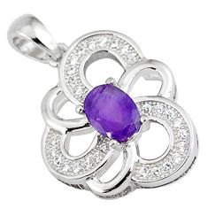 Natural purple amethyst topaz 925 sterling silver pendant jewelry c18220