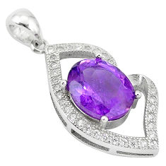 Natural purple amethyst topaz 925 sterling silver pendant jewelry c18152