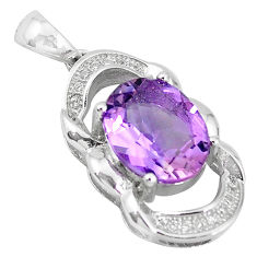 Natural purple amethyst topaz 925 sterling silver pendant jewelry c18160