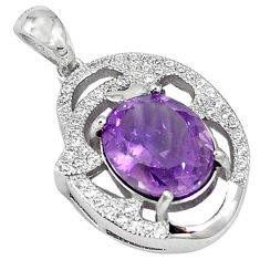 Natural purple amethyst topaz 925 sterling silver pendant jewelry c18144