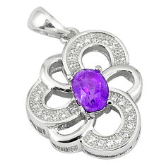 Natural purple amethyst topaz 925 sterling silver pendant jewelry c18219