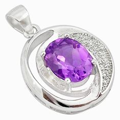 Natural purple amethyst topaz 925 sterling silver pendant jewelry c22134