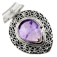 11.22cts natural purple ametrine 925 sterling silver pendant jewelry d45001