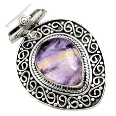 11.48cts natural purple ametrine 925 sterling silver pendant jewelry d45002