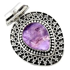 12.04cts natural purple ametrine 925 sterling silver pendant jewelry d45005