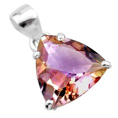 8.51cts natural purple ametrine 925 sterling silver pendant jewelry t24271