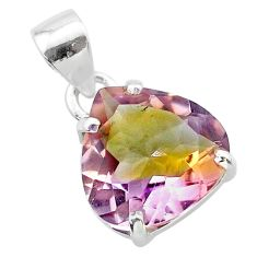 8.12cts natural purple ametrine 925 sterling silver pendant jewelry t24273
