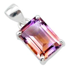 6.52cts natural purple ametrine 925 sterling silver pendant jewelry t24277