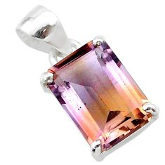 6.86cts natural purple ametrine 925 sterling silver pendant jewelry t24278