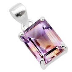 6.53cts natural purple ametrine 925 sterling silver pendant jewelry t24280