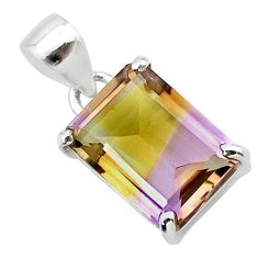 6.53cts natural purple ametrine 925 sterling silver pendant jewelry t24287