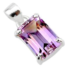 5.87cts natural purple ametrine 925 sterling silver pendant jewelry t24296