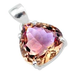 11.02cts natural purple ametrine 925 sterling silver pendant jewelry t24297