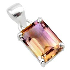 5.43cts natural purple ametrine 925 sterling silver pendant jewelry t24298