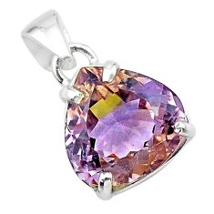 9.80cts natural purple ametrine 925 sterling silver pendant jewelry t24300
