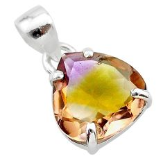 8.76cts natural purple ametrine 925 sterling silver pendant jewelry t24303