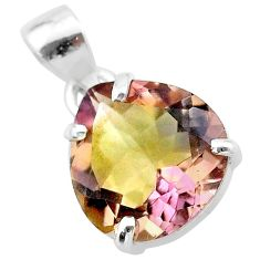 9.29cts natural purple ametrine 925 sterling silver pendant jewelry t24307