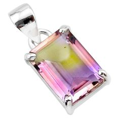 5.87cts natural purple ametrine 925 sterling silver pendant jewelry t24316