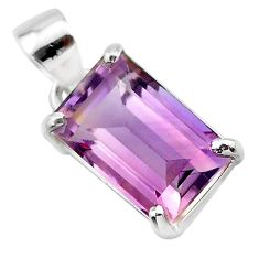 6.45cts natural purple ametrine 925 sterling silver pendant jewelry t24317