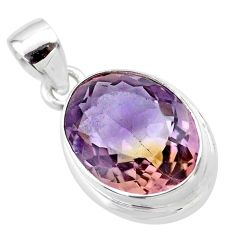 10.37cts natural purple ametrine 925 sterling silver pendant jewelry t45141