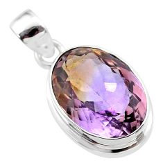 10.37cts natural purple ametrine 925 sterling silver pendant jewelry t45144