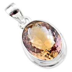 10.25cts natural purple ametrine 925 sterling silver pendant jewelry t45153