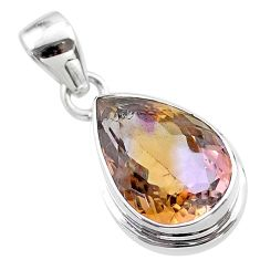 10.23cts natural purple ametrine 925 sterling silver pendant jewelry t45158