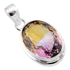 14.08cts natural purple ametrine 925 sterling silver pendant jewelry t45160