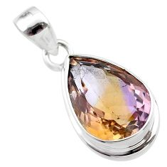 9.94cts natural purple ametrine 925 sterling silver pendant jewelry t45164
