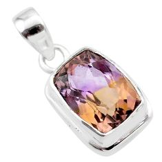6.78cts natural purple ametrine 925 sterling silver pendant jewelry t45165