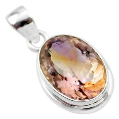 10.93cts natural purple ametrine 925 sterling silver pendant jewelry t45168