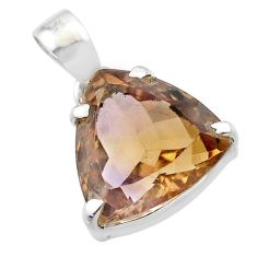 11.55cts natural purple ametrine 925 sterling silver pendant jewelry t45180
