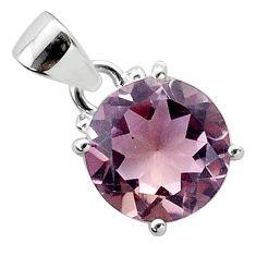 6.64cts natural purple ametrine 925 sterling silver handmade pendant t50161