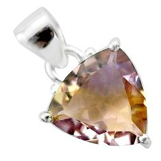 6.27cts natural purple ametrine 925 sterling silver pendant jewelry t50192