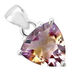 6.36cts natural purple ametrine 925 sterling silver pendant jewelry t50196