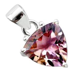 6.97cts natural purple ametrine pear 925 sterling silver pendant jewelry t50167