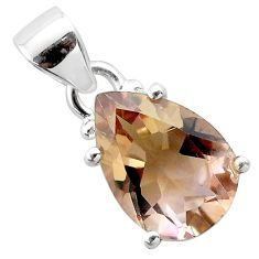 6.27cts natural purple ametrine pear 925 sterling silver pendant jewelry t50200