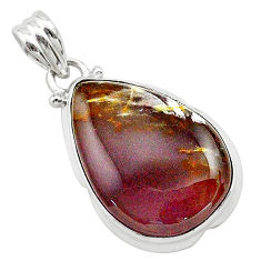 16.20cts natural purple grape chalcedony 925 sterling silver pendant t22914