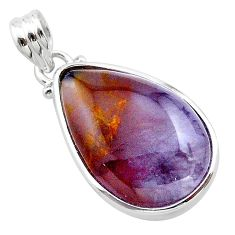 17.22cts natural purple grape chalcedony 925 sterling silver pendant t22920