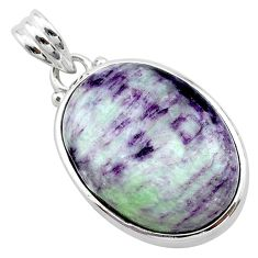 18.68cts natural purple kammererite 925 sterling silver pendant jewelry t22823